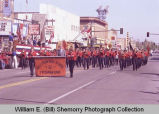 Band Day parade 1984, Williston High School freshman band, Williston, N.D.