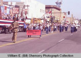 Band Day parade 1984, Buffalo Trails Band, Williston, N.D.