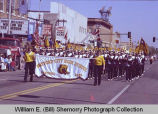 Band Day parade 1984, Watford City High School band, Williston, N.D.