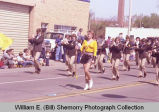 Band Day parade 1984, Minot High School band, Williston, N.D.