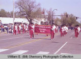 Band Day parade 1984, Alexander Comets band, Williston, N.D.