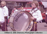 Band Day parade 1984, Grenora High School band, Williston, N.D.
