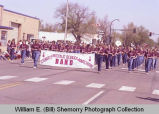 Band Day parade 1984, Sidney Middle School marching band, Williston, N.D.