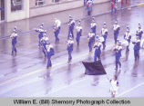 Band Day parade 1982, Tioga High School band, Williston, N.D.