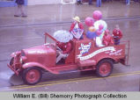 Band Day parade 1982, Happy Joe's truck, Williston, N.D.