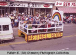 Band Day parade 1983, Bethel Home float, Williston, N.D.