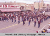 Band Day parade 1983, Sidney Middle School marching band, Williston, N.D.