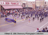 Band Day parade 1983, Jim Hill Middle School band, Williston, N.D.