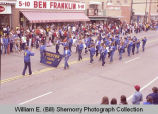Band Day parade 1983, Trenton School Band, Williston, N.D.