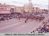 Band Day parade 1983, Crosby High School band, Williston, N.D.