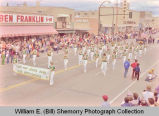 Band Day parade 1983, Hazen High School band, Williston, N.D.