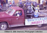Williston Christmas parade 1983, Winter Carnival float, N.D.