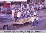 Williston Christmas parade 1983, children on trailer, N.D.