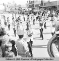 Band Day parade 1975, Williston High School band, Williston, N.D.