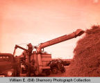 Threshing grain, Williston, N.D.