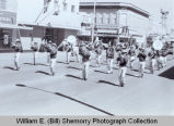 Parade, high school band, Williston, N.D.
