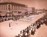 Band Day parade 1946, Regina Lions Junior band, Williston, N.D.