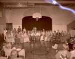 Band in old Central School, Williston, N.D.