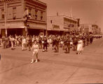 Band day parade 1961, Williston Municipal Band, Williston, N.D.