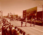 Band Day parade 1961, Veterans of Foreign Wars marching, Williston, N.D.