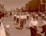 Band Day parade 1961, Williston Beginners band, Williston, N.D.