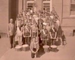 Williston Grade School band behind Central School, Williston, N.D.