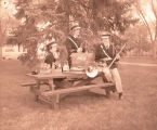 Williston High School band members drink Coca-Cola, Williston, N.D.