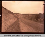 Scenic view of dirt road, Northwest Williston, N.D.