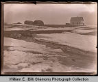Farm in winter, house in background, Northwest Williston, N.D.