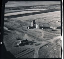 Aerial view of grain elevators, N.D.