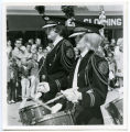 Band Day Parade 1966, Tioga snare drum players, Williston, N.D.
