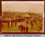 Circus and carnival, possibly State Fair in Minot, N.D.