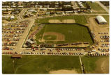 Aerial view overlooking Aafedt baseball stadium, Williston, N.D.