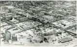 Aerial view during winter of Williston, N.D.