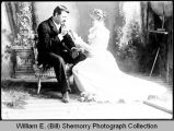 Edward O. and Olive Salveson wedding portrait