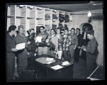Soldiers receiving uniforms, Fort Rucker, Alabama
