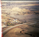 Aerial view of a farm, McKenzie County, N.D.
