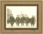 Ceremonies of flag raising at Concordia College, April 6, 1917