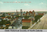 Court House and Bird's-eye view, Devils Lake, N.D.