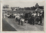 Horse pulling contest, Wells County Fair, Fessenden, N.D.