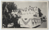 Nurses dressed as League of Nations countries in parade, Bismarck, N.D.