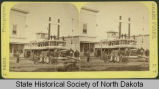 Steamboat Selkirk docked at 3rd Street, Grand Forks, Dakota Territory