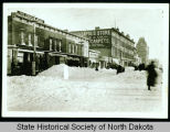3rd Street after a blizzard, Grand Forks, N.D.
