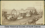 Main Street decorated for cornerstone laying, Bismarck, Dakota Territory