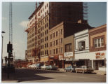 5th Street businesses and Patterson Place construction, Bismarck, N.D.
