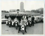 Bismarck Police Department portrait with the capitol in the background, Bismarck, N.D.