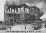 North Dakota State Capitol fire, viewed from south side, Bismarck, N.D.