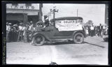 Golden Rule float in parade, Hettinger, N.D.