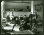 Soldiers in barracks, Fort Yates, N.D.
