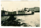 "Missouri River ferry ""The Fawn"" at Sanish, N.D."